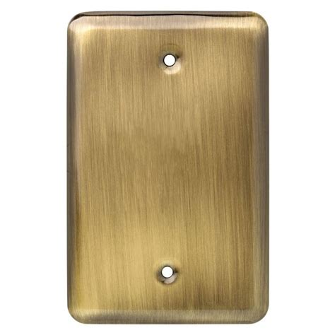 Antique Brass by Liberty Sted Single Blank Wall Plate Antique