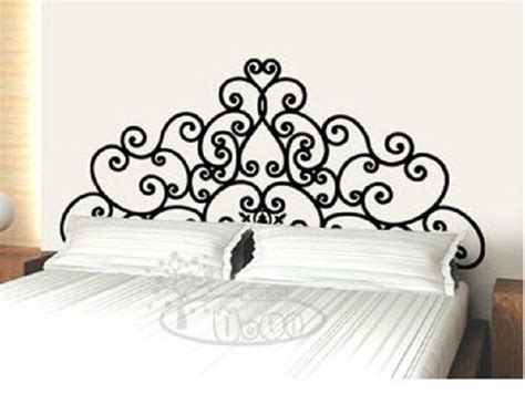 headboard vinyl wall decal wall decor decal sticker removable vinyl headboard