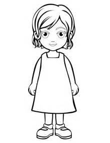 Galerry cartoon girl coloring page