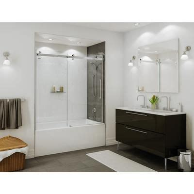 maax bathtub doors maax bath halo tub door 60 inch chrome clear 139398