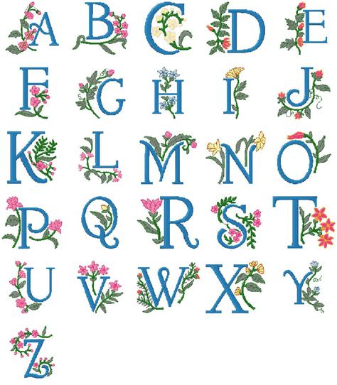free printable alphabet letters for embroidery sewing machine pattern font http redmugs co uk