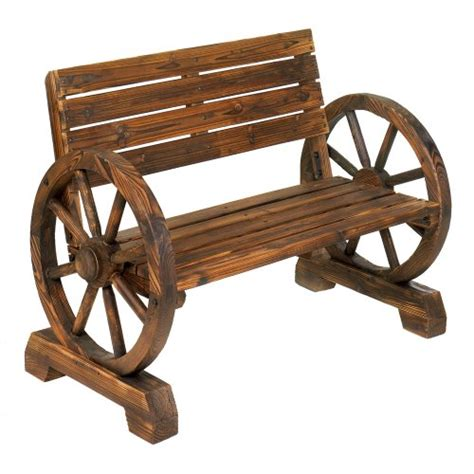 wagon wheel bench seat rustic wood design home garden wagon wheel bench decor