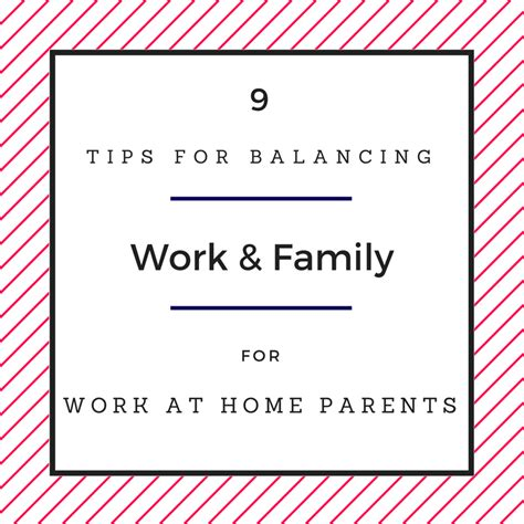 monday motivation tips for balancing work and family for