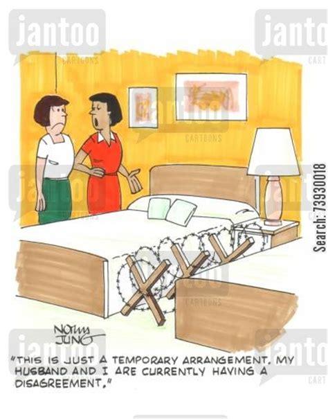 marital bed marital arguments cartoons humor from jantoo cartoons