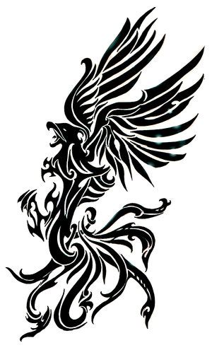 phoenix tribal tattoo tribal design picture photos and