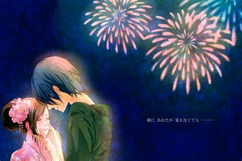anime fireworks indonesia eien hanabi vocaloid zerochan anime image board