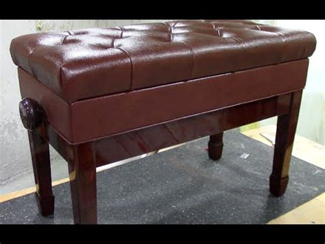 cps piano bench review adjustable tufted leather piano bench from cps