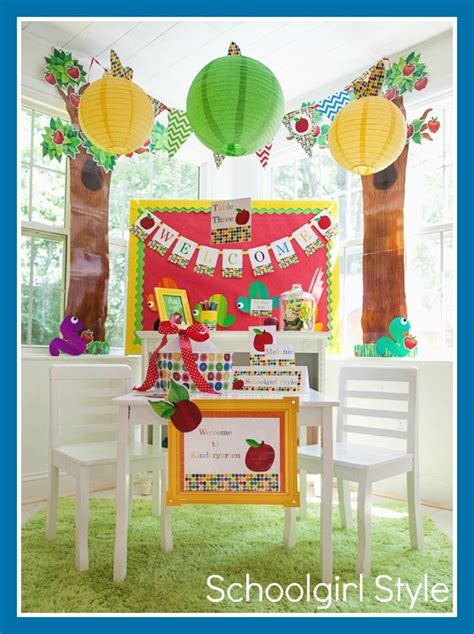 Primary Class Decoration Ideas by Primary Apple Theme Schoolgirlstyle