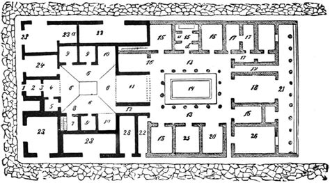 plan of roman house the project gutenberg ebook of museum of antiquity by l w yaggy and t l haines