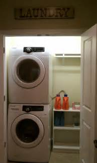 washer and dryer in closet finally closets