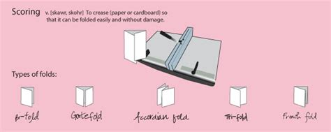 Scoring Paper For Folding - score a guide to paper folds and scoring llb designs