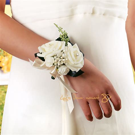 Wedding Corsages by Handmade Artificial Pe Foam Flower Wrist Corsage