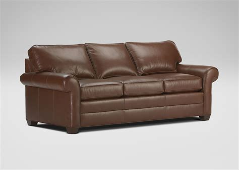 ethan allen sofas on sale ethan allen leather sofa acorn 2 384 10