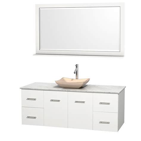 Bathroom Vanities Vessel Sinks Sets 60 Quot Centra Single Bathroom Vanity Set For Vessel Sink By Wyndham Collection White Bathroom