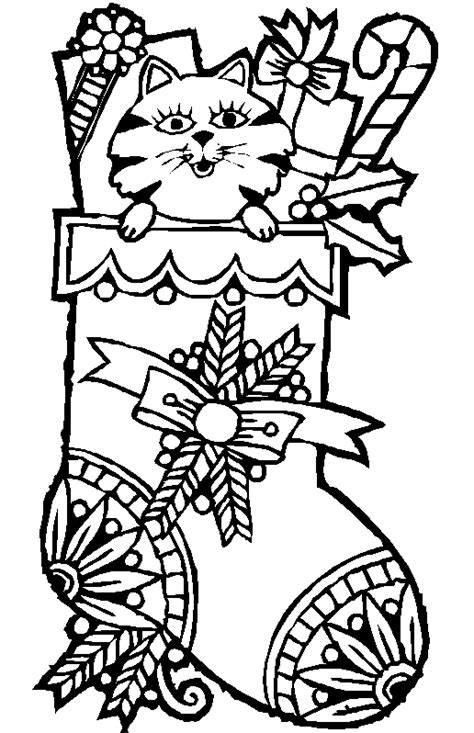 coloring pages christmas cats malebog jul i julens hule dk julesange clipart