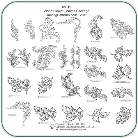 wood carving templates wood flower leaves patterns classic carving patterns