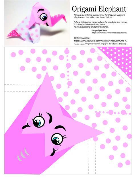 printable origami toys origami elephant template free printable papercraft