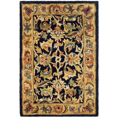 safavieh classic black gold 2 ft x 3 ft area rug cl758b