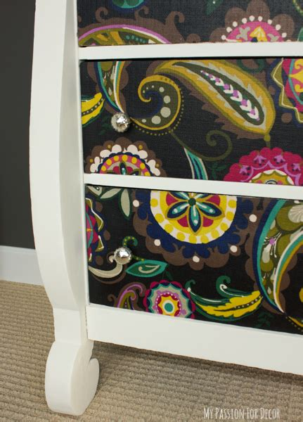 Fabric Decoupage Projects - dresser makeover using fabric and mod podge hometalk