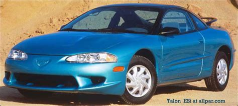 eagle talon and plymouth laser mitsubishi cars with pentastars