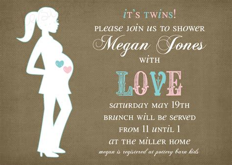 baby shower invitations templates for twins twins baby shower invitation it s twins