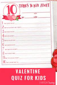 valentines day questions quiz for easy kid activity