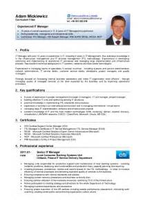 Curriculum Vitae English by Adam Mickiewicz Cv English Version