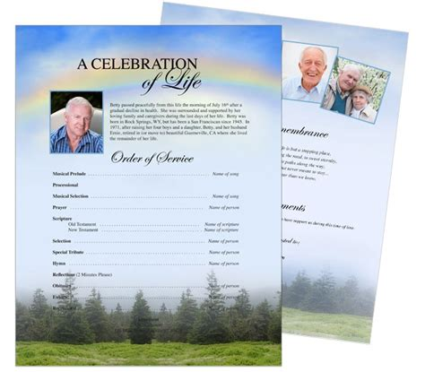 pages flyer templates 10 best images about funeral memorial stationary flyer