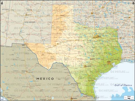 physical maps of texas texas physical map thinglink