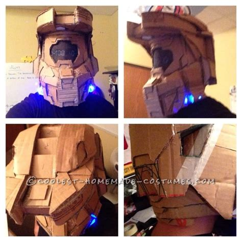 How To Make A Master Chief Helmet Out Of Paper - awesome cardboard master chief costume