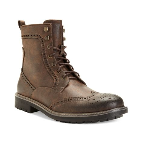 madden boots steve madden madden shoes mofit wingtip boots in brown for