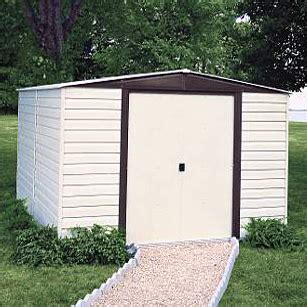 10 X 6 Metal Shed With Floor by Arrow Vinyl Dallas 10 X 6 Premium Outdoor Storage Shed