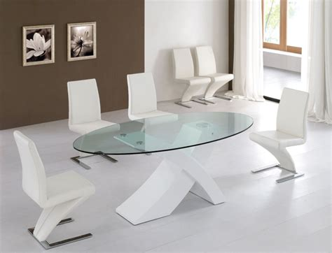 contemporary glass dining table modern glass dining table set home and interior design
