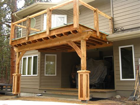 how to build a awning over a deck how to build a porch with roof