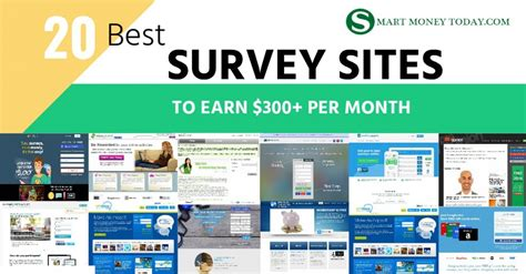 Survey Money Websites - 20 best survey sites to make extra money earn 300 per month smart money today
