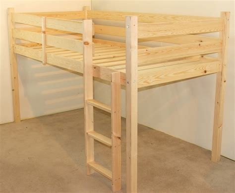 Small Single Bunk Beds Molly 2ft 6 Small Single Length Solid Pine Cabin Bed