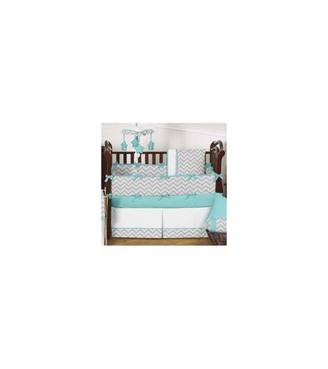 sweet jojo zig zag crib bedding sweet jojo designs zig zag turquoise grey chevron 9