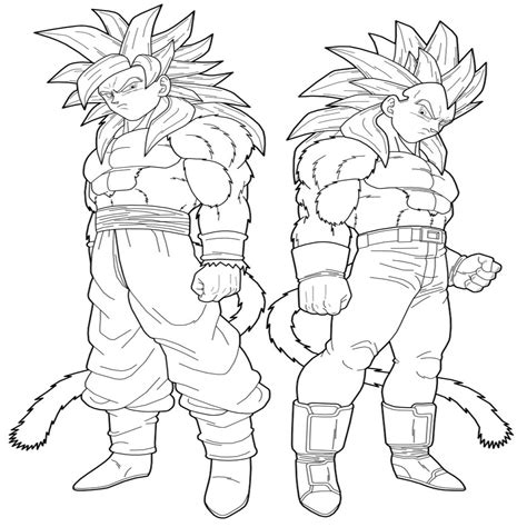 imagenes para colorear de dragon ball z dragon ball z 45 dibujos animados p ginas para