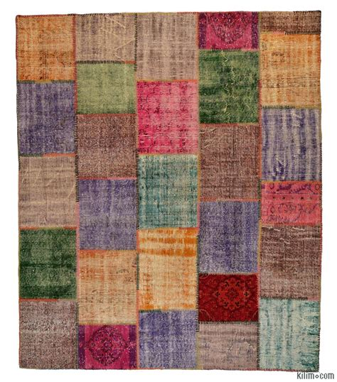 Overdyed Patchwork Rug - dyed turkish patchwork rug k0005379 finest kilims