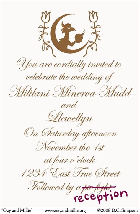 we are cordially inviting you to our wedding ozy and millie ozy and millie you are cordially invited