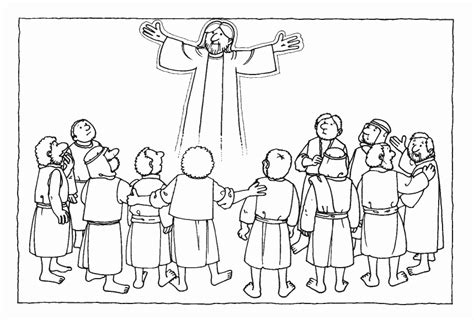 coloring pages jesus grows up ascension of jesus coloring page az coloring pages