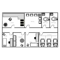 medical clinic floor plan exles healthcare facility plan exles
