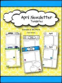 Free April Newsletter Template by 1000 Images About Free Preschool Printables On