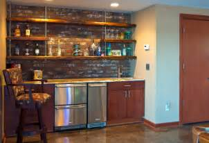 Basement Wet Bar Designs Industrial Pub Room Remodel Contemporary Basement