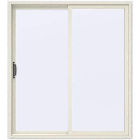 Home Depot Patio Doors Jeld Wen 72 In X 80 In White Vinyl Left Sliding Patio Door Le 6068 Lh The Home Depot