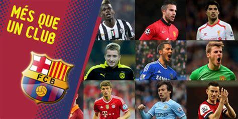 barcelona daftar nama terungkap daftar 80 pemain buruan barcelona bola net