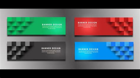 design banner simple photoshop tutorial banner design simple web banner