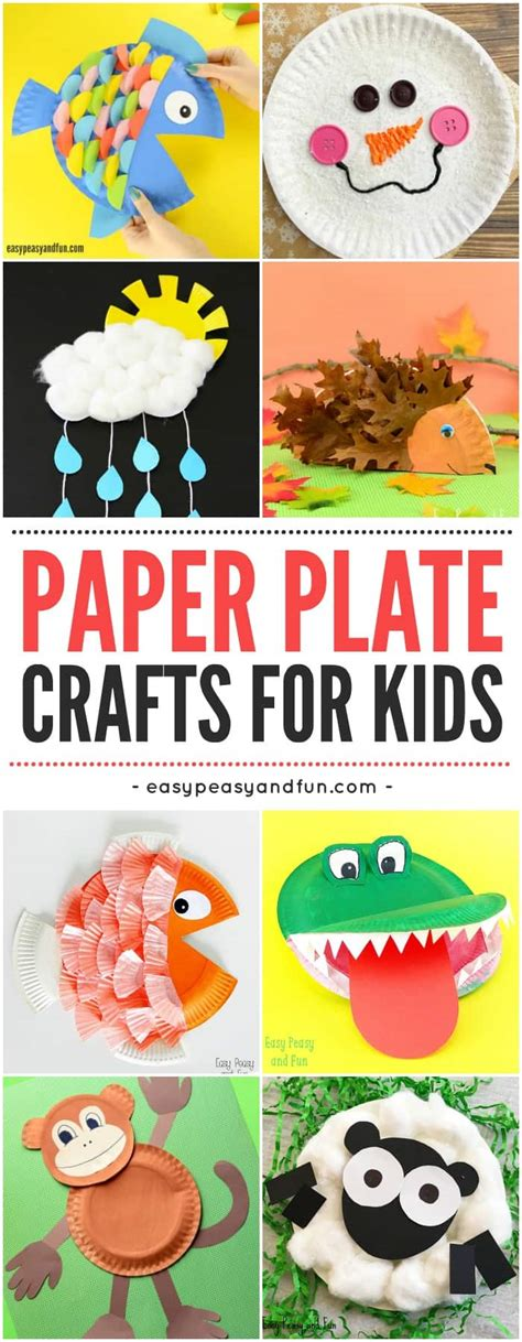 easy paper plate crafts for paper plate crafts easy peasy and