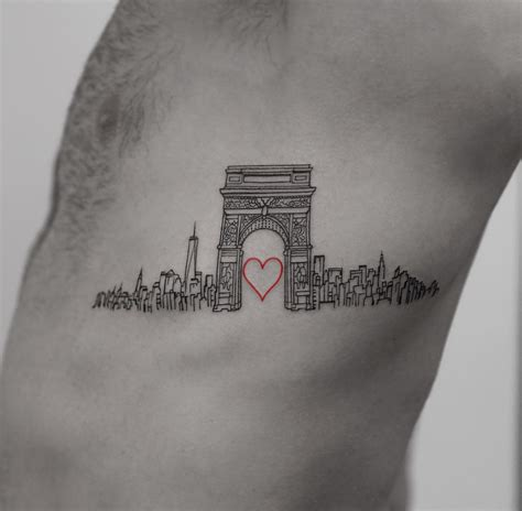 tattoo new york times square love nyc side piece with washington square arch best