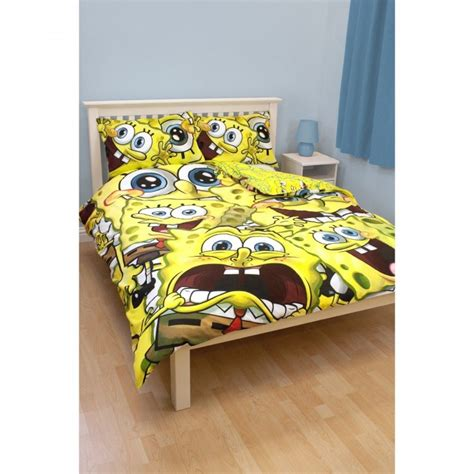 Bedcover Set Spongebob 3d childrens spongebob squarepants quilt duvet cover bedding set